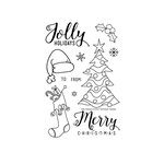 Technique Tuesday - Christmas - Clear Acrylic Stamps - Jolly Holidays