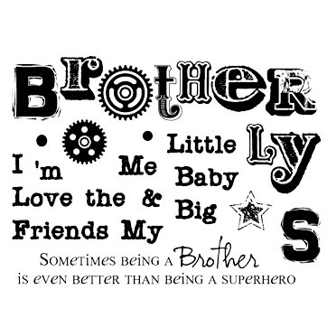 Technique Tuesday - Clear Acrylic Stamps - Oh Brother