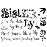 Technique Tuesday - Clear Acrylic Stamps - My Sister