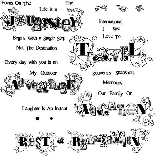 Technique Tuesday - Clear Acrylic Stamps - In A Word - Vacation