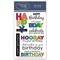 Technique Tuesday - Clear Photopolymer Stamps - Large Birthday