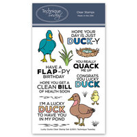 Technique Tuesday - Animal House Collection - Clear Photopolymer Stamps - Lucky Duck