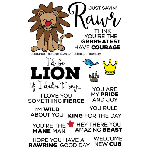 Technique Tuesday - Animal House Collection - Clear Photopolymer Stamps - Leonardo the Lion