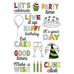 Technique Tuesday - Memory Keepers Studio - Clear Acrylic Stamps - Let's Party