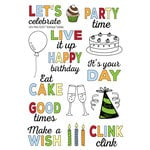 Technique Tuesday - Memory Keepers Studio - Clear Photopolymer Stamps - Let's Party