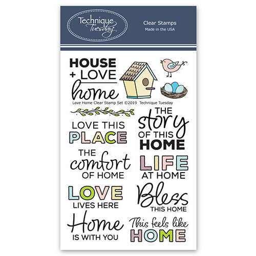 Technique Tuesday - Memory Keepers Studio - Clear Photopolymer Stamps - Love Home