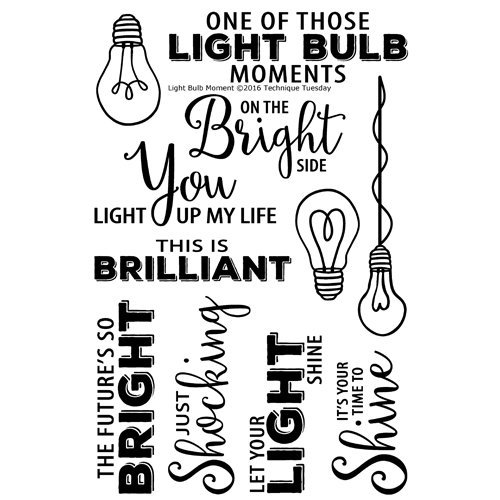 Technique Tuesday - Memory Keepers Studio - Clear Photopolymer Stamps - Light Bulb Moment