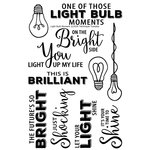 Technique Tuesday - Memory Keepers Studio - Clear Acrylic Stamps - Light Bulb Moment
