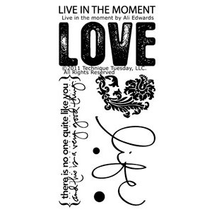 Technique Tuesday - Clear Acrylic Stamps - Live in the Moments by Ali Edwards