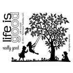 Technique Tuesday - Clear Acrylic Stamps - Life Is Good