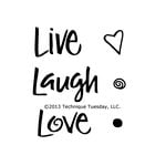 Technique Tuesday - Clear Acrylic Stamps - Live Laugh Love
