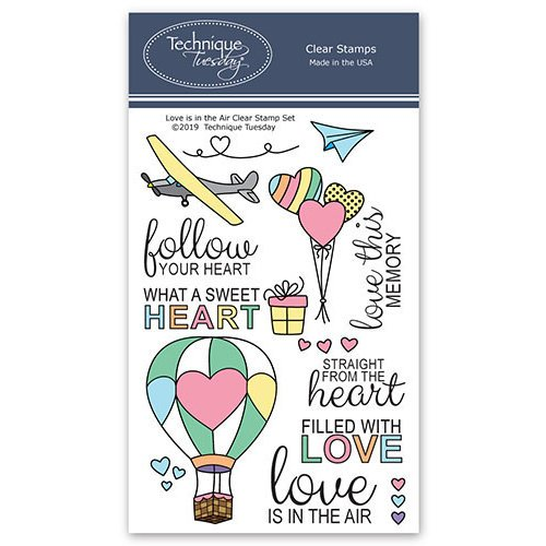 Technique Tuesday - Memory Keepers Studio - Clear Photopolymer Stamps - Love is in the Air