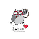 Technique Tuesday - Clear Acrylic Stamps - Love You Owl