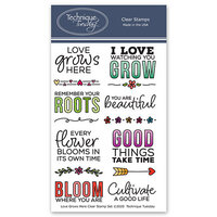 Technique Tuesday - Memory Keepers Studio - Clear Photopolymer Stamps - Love Grows Here