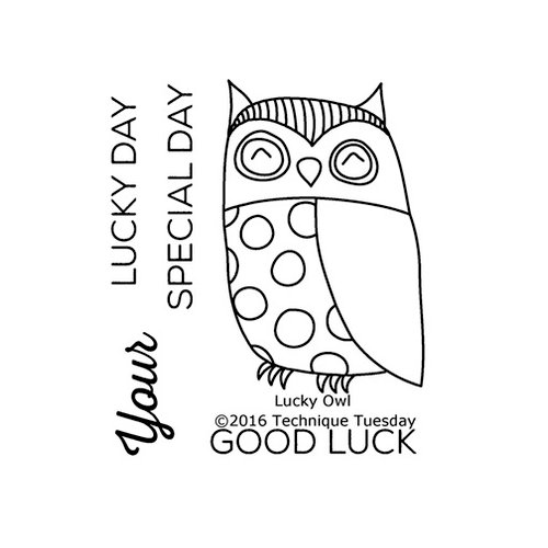 technique tuesday lucky owl stamps