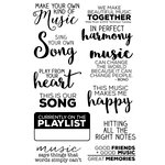 Technique Tuesday - Memory Keepers Studio - Clear Acrylic Stamps - Make Music