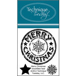 Technique Tuesday - Clear Acrylic Stamps - Merry Christmas Snowflake Seal