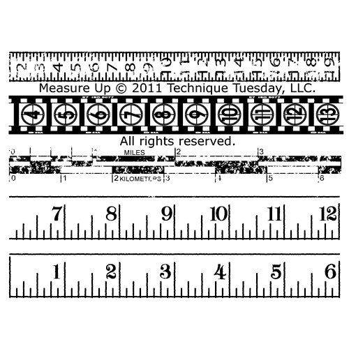 Technique Tuesday - Clear Acrylic Stamps - Measure Up
