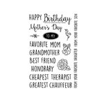 Technique Tuesday - Clear Acrylic Stamps - Mom's Day