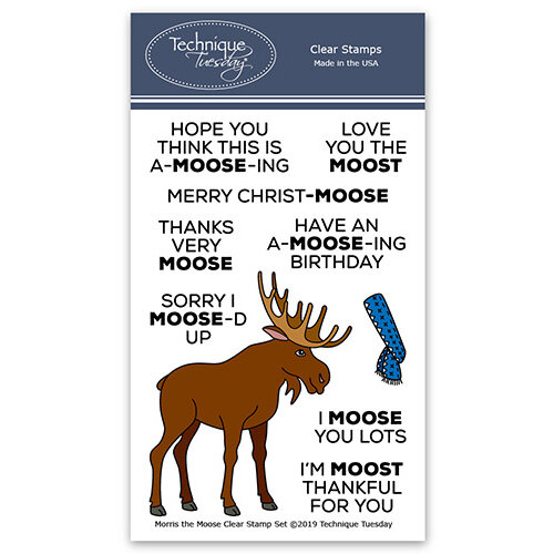Technique Tuesday - Animal House Collection - Clear Photopolymer Stamps - Morris the Moose