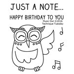 Technique Tuesday - Clear Acrylic Stamps - Music Owl