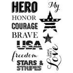 Technique Tuesday - Clear Acrylic Stamps - My Hero