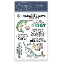 Technique Tuesday - Animal House Collection - Clear Photopolymer Stamps - Nancy and Nick the Narwhals