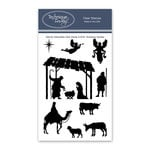 Technique Tuesday - Christmas - Clear Photopolymer Stamps - Nativity Silhouettes