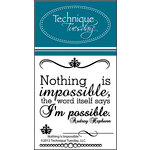Technique Tuesday - Clear Acrylic Stamps - Nothing is Impossible
