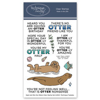 Technique Tuesday - Animal House Collection - Clear Photopolymer Stamps - Opal and Otis the Otters