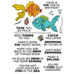Technique Tuesday - Animal House Collection - Clear Photopolymer Stamps - Phyllis and Finn the Fish