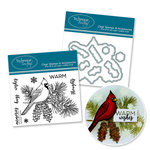 Technique Tuesday - DIY Steel Die and Acrylic Stamp Set - Pine Bough Bundle
