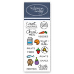 Technique Tuesday - Planner Collection - Clear Acrylic Stamps - Eat Healthy