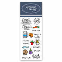 Technique Tuesday - Planner Collection - Clear Photopolymer Stamps - Eat Healthy