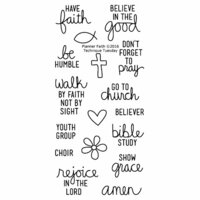 Technique Tuesday - Planner Collection - Clear Photopolymer Stamps - Faith