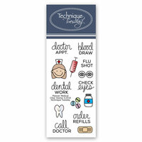 Technique Tuesday - Planner Collection - Clear Photopolymer Stamps - Medical