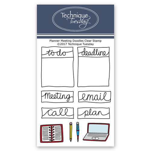 Technique Tuesday - Planner Collection - Clear Acrylic Stamps - Meeting Doodles