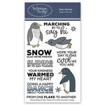 Technique Tuesday - Animal House Collection - Clear Photopolymer Stamps - Playful Penguins