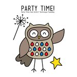 Technique Tuesday - Clear Acrylic Stamps - Party Time Owl