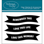Technique Tuesday - Clear Acrylic Stamps - Remember This Banners by Ali Edwards