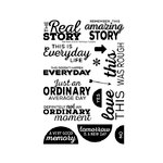 Technique Tuesday - Clear Acrylic Stamps - Real Story