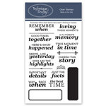 Technique Tuesday - Memory Keepers Studio - Clear Photopolymer Stamps - Remember When Scrapbooking