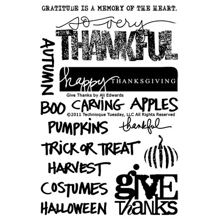 Technique Tuesday - Clear Acrylic Stamps - Give Thanks by Ali Edwards