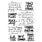 Technique Tuesday - Clear Acrylic Stamps - Summer Rocks by Ali Edwards
