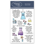 Technique Tuesday - Clear Acrylic Stamps - Sassy Fashion