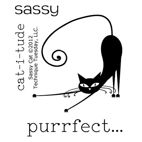 Technique Tuesday - Clear Photopolymer Stamps - Sassy Cat