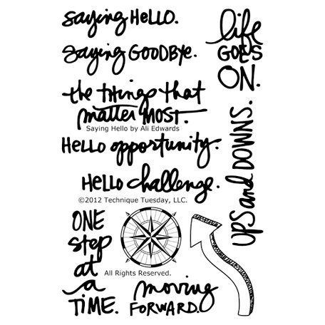 Technique Tuesday - Clear Acrylic Stamps - Saying Hello by Ali Edwards