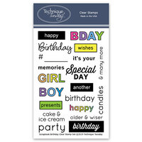 Technique Tuesday - Memory Keepers Studio - Clear Photopolymer Stamps - Scrapbook Birthday