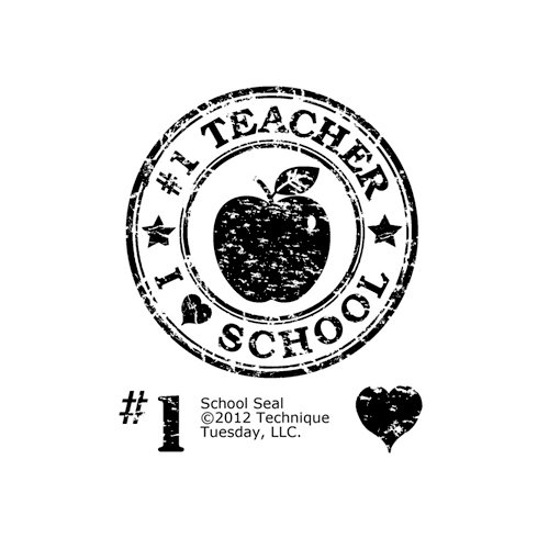 Technique Tuesday - Clear Acrylic Stamps - School Seal