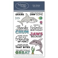 Technique Tuesday - Animal House Collection - Clear Photopolymer Stamps - Sid and Susan the Sharks